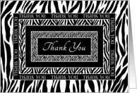 Thank You Zebra Print Contemporary Layers card