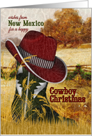 from New Mexico Cowboy Christmas Western Boot and Hat card