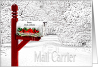 for Mail Carrier / Postal Worker Christmas - Winter Mailbox card