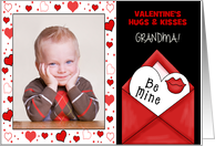 for Grandma on Valentine's Day Custom Card from Grandchildren card