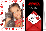 for Grandpa on Valentine's Day Custom Card from Grandchildren card