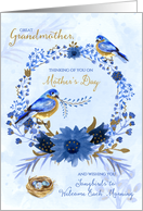 for Great Grandmother on Mother's Day - Blue Birds card