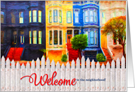 Welcome to the Neighborhood - San Francisco Painting card