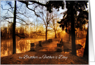 For Brother on Father's Day Scenic Lake View card