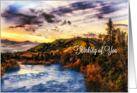 Thinking of You Friend American River Scenic View card