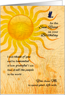 Gay and Lesbian Life Partner's Birthday Sunrise Meadow card