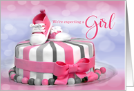 Expecting a Baby Girl Announcement! card