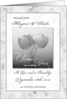 Vow Renewal Ceremony Invitation card
