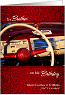 for Brother - Classic Car Themed Birthday card
