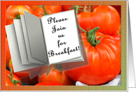 Breakfast Invitation Red Tomatoes card