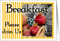 Breakfast Invitation card