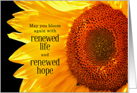 Fibromyalgia Get Well Sunflower Endless Hope card