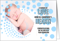 for Grandparents on the Birth of a Grandson Blue Boy card