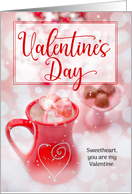 for Life Partner on Valentine's Day Rose with Heart card