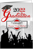Graduation Announcement Class of 2013 in Red and Silver card