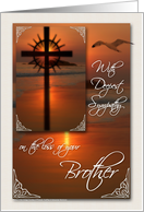 Sympathy Card for the Loss of a Brother Sunset Cross card