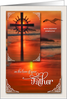 Loss of a Father | Sympathy | Sunset Cross card