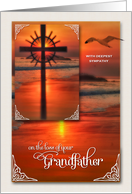 Loss of a Grandfather | Sympathy | Sunset Cross card