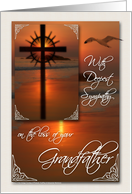 Sympathy Card for the Loss of a Grandfather Sunset Cross card