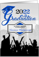 Class of 2013 Graduation Announcement in Blue card