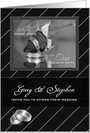 Personalized Gay Wedding Invitation for Two Grooms card
