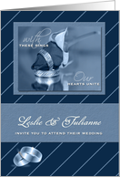 Lesbian Wedding Invitation Personalized with Two Brides card
