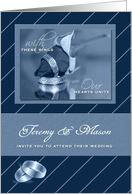 Gay Wedding Invitation Personalized with Grooms Names card