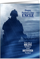 For Our Military Son on Father's Day Stars and Stripes Soldier card