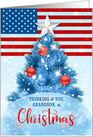 For Our Grandson Serving in the Military Patriotic Christmas card