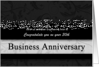 30th Business Anniversary Congratulations Black and Silver card