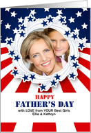 Father's Day Photo Card for Patriotic Dad or Military Dad card