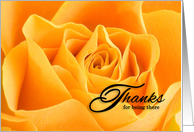 Volunteer Thank You Yellow Rose card