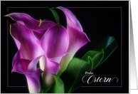 German Easter Card - Ostern - Black and White Lily card