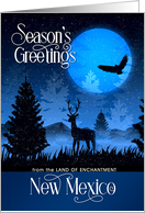 Season's Greetings from The Land of Enchantment New Mexico card