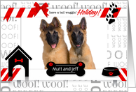 Holiday Dog - Photo Card with Custom Names card