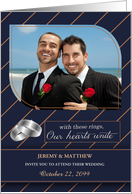 Gay Wedding Invitiation Personalized with Your Photo card