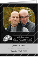 Lesbian Wedding Invitiation Personalized Photo Card