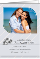 Lesbian Wedding Invitiation Personalized with Your Photo card