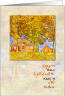 Realtor or Real Estate Office Autumn New Home Greeting card