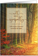 With Sympathy Divine Light - Forest Painting card