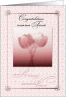 for Dear Friends Vow Renewal Congratulations card