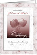 Personalized Wedding Congratulations Tulips card
