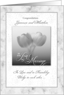 Same Sex Marriage Personalized Wedding Congratulations card