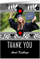 Thank You for the Graduation Gift Personalized Photocard card