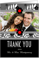 Thank You for the Wedding Gift Personalized Photo card