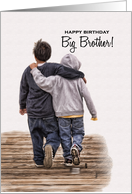 For Big Brother on His Birthday from Little Brother card