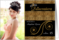 Quinceanera Photo Card Party Invitation in Cheetah Print card