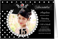 Quinceanera Photo Card Invitation in Cheetah Print card