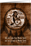 Native American Day - Wolf and Dreamcatcher card