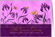 German Birthday Geburtstag - Purple Iris card
